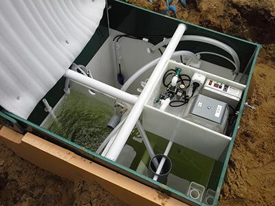 Фото внутреннего устройства станции очистки